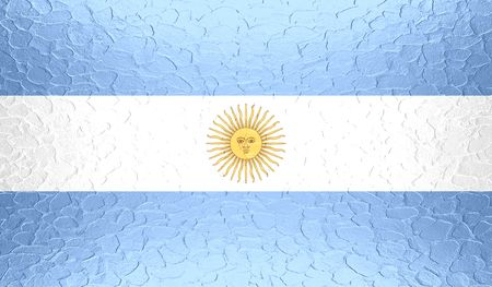 bandera argentina: Bandera de Argentina en la textura del metal met�lico Foto de archivo