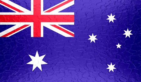 australia flag: Australia flag on metallic metal texture