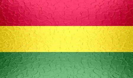 bandera de bolivia: Bolivia bandera en la textura del metal met�lico