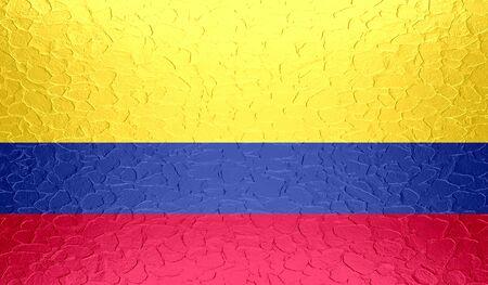 bandera de colombia: Bandera de Colombia en la textura del metal met�lico