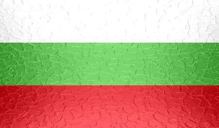 bulgaria: Bulgaria flag on metallic metal texture