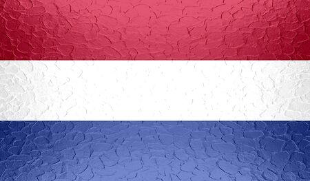 unitary: Netherlands flag on metallic metal texture Stock Photo