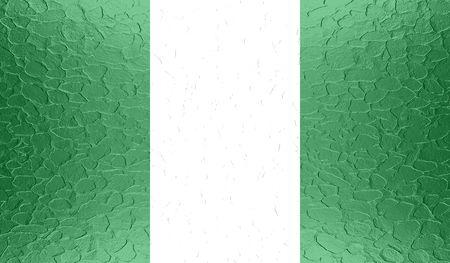 anthem: Nigeria flag on metallic metal texture