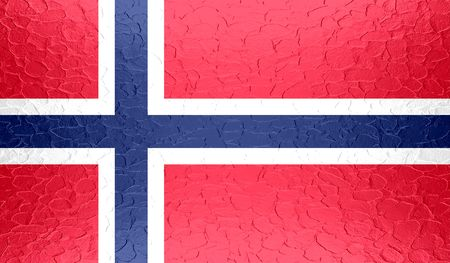 norway flag: Norway flag on metallic metal texture Stock Photo