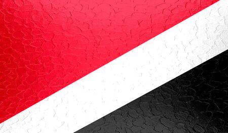 sealand: Sealand, Principality of National flag on metallic metal texture Stock Photo
