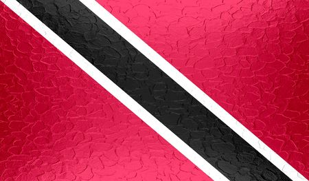 trinidadian: Trinidad and Tobago flag on metallic metal texture