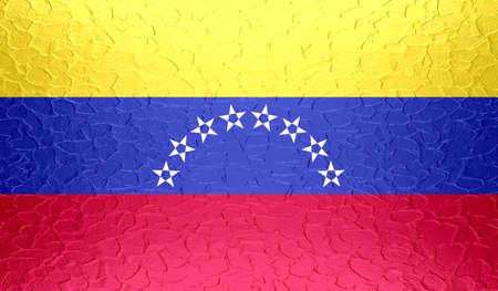 venezuela flag: Bandera de Venezuela en la textura del metal met�lico Foto de archivo
