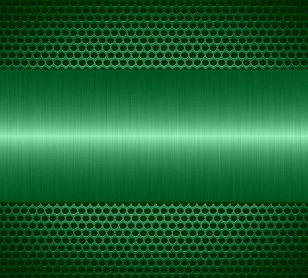 specular: Mint metallic texture with holes metal plate background Stock Photo