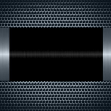 specular: Black metallic texture with holes metal plate background