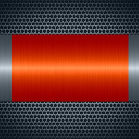 specular: Orange metallic texture with holes metal plate background