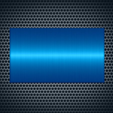 blue metallic background: Blue metallic texture with holes metal plate background