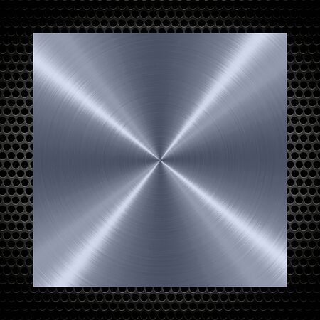 shiny metal background: Shiny stainless steel metal background with holes metal frame