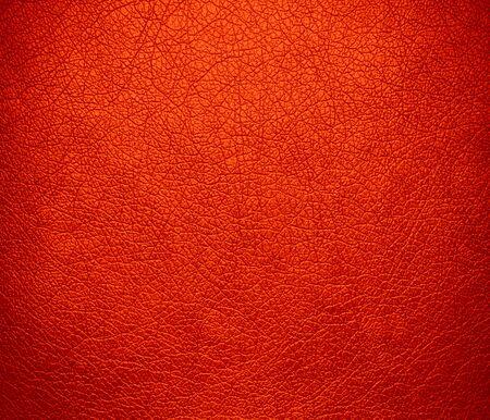 Orange-red leather texture background photo