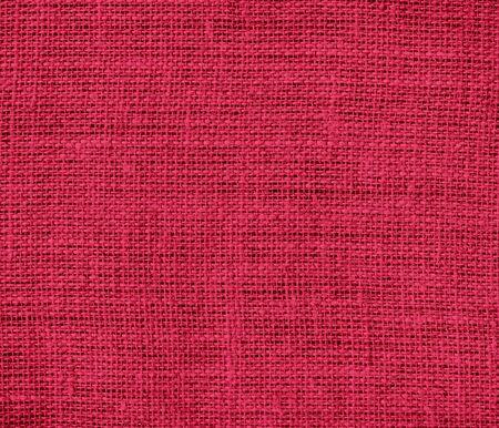 burlap texture: Bright maroon burlap texture background Stock Photo