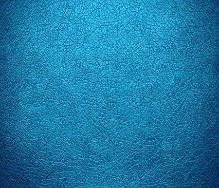 cerulean: Bright cerulean leather texture background