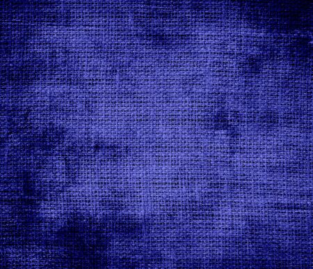 pigment: Grunge background of blue pigment burlap texture Stock Photo