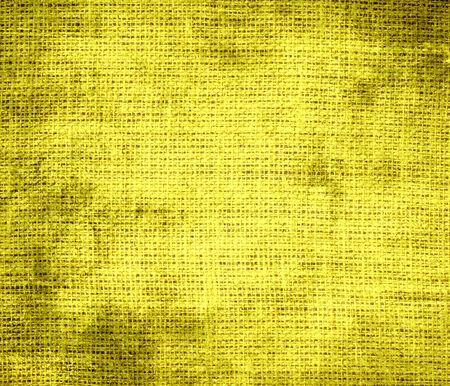 banana yellow: Grunge background of banana yellow burlap texture Stock Photo