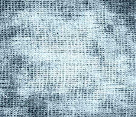 beau: Grunge background of beau blue burlap texture Stock Photo