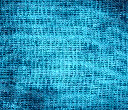 cerulean: Grunge background of bright cerulean burlap texture