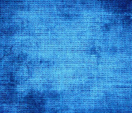 azure: Grunge background of brilliant azure burlap texture