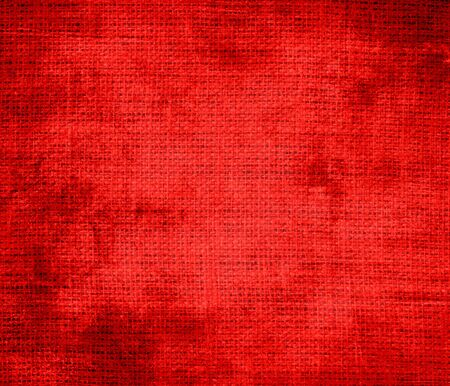 candy apple: Grunge background of candy apple red burlap texture Stock Photo