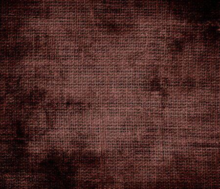 caput: Grunge background of caput mortuum burlap texture Stock Photo