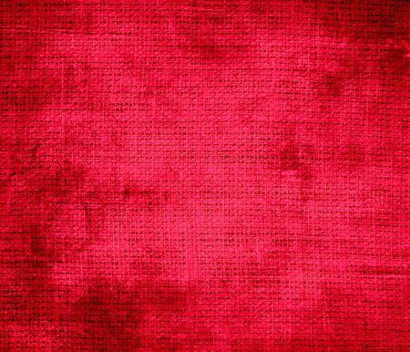 carmine: Grunge background of carmine red burlap texture
