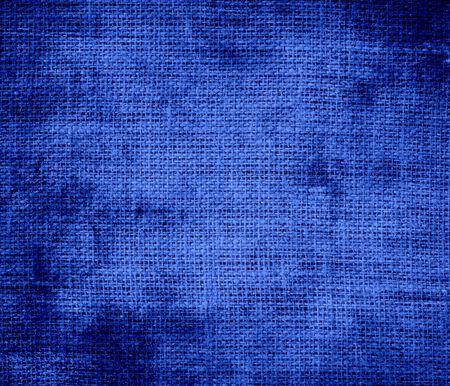 cerulean: Grunge background of cerulean blue burlap texture Stock Photo