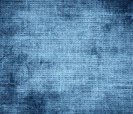 cerulean: Grunge background of cerulean frost burlap texture Stock Photo