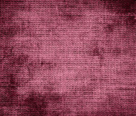 china rose: Grunge background of china rose burlap texture