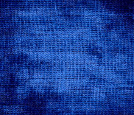cobalt: Grunge background of cobalt blue burlap texture