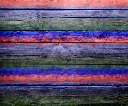 stained glass panel: Abstract art wood texture background Stock Photo
