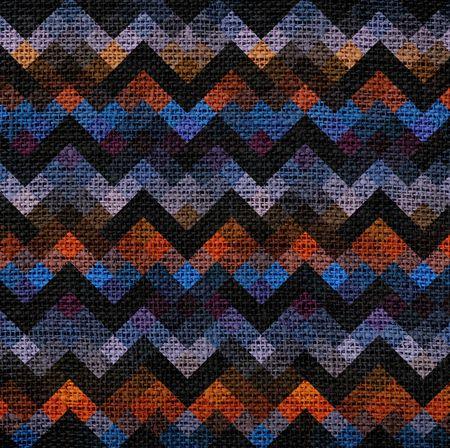 ecologically: Colorful geometric pattern burlap background