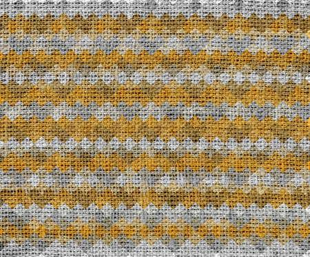 burlap texture: Geometric pattern burlap texture background Stock Photo