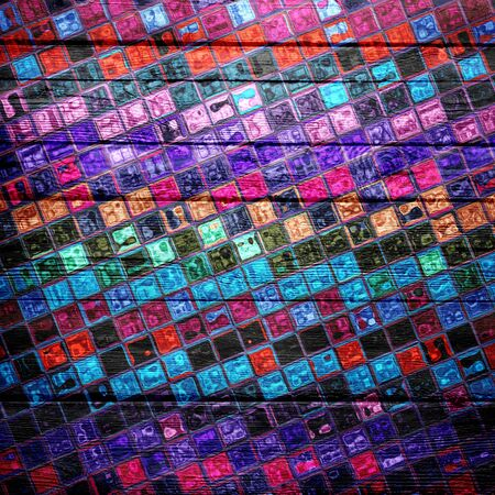 stained glass panel: Colorful mosaic wood texture background Stock Photo
