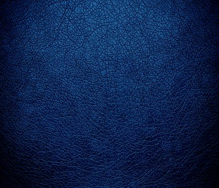 cerulean: Dark cerulean leather texture background Stock Photo