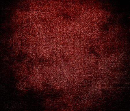 red leather: Grunge background of barn red leather texture Stock Photo