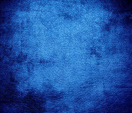 bleu: Grunge background of Bleu de France leather texture