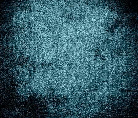 blue lagoon: Grunge background of blue lagoon leather texture Stock Photo
