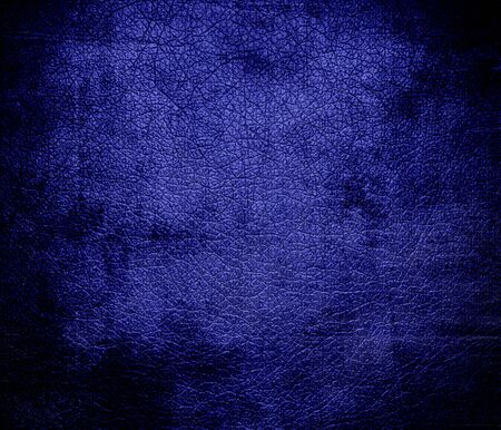 pigment: Grunge background of blue pigment leather texture