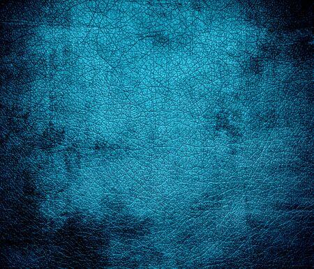 bolster: Grunge background of bondi blue leather texture Stock Photo