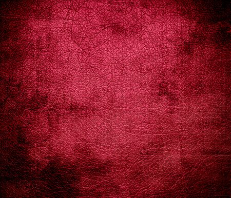 maroon leather: Grunge background of bright maroon leather texture