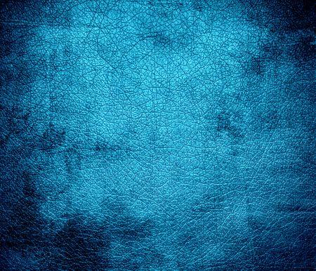 cerulean: Grunge background of bright cerulean leather texture