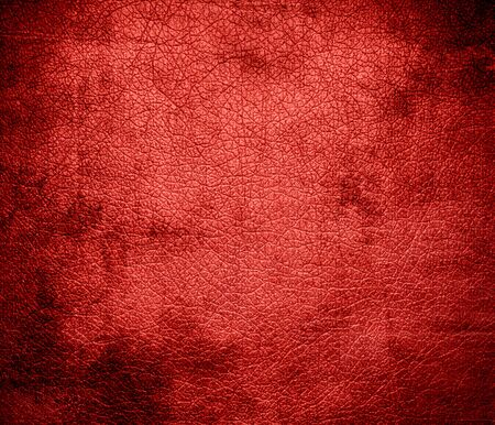 Grunge background of carmine pink leather texture Stock Photo