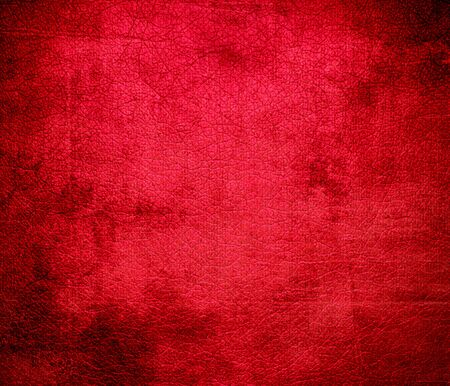 red leather: Grunge background of carmine red leather texture Stock Photo