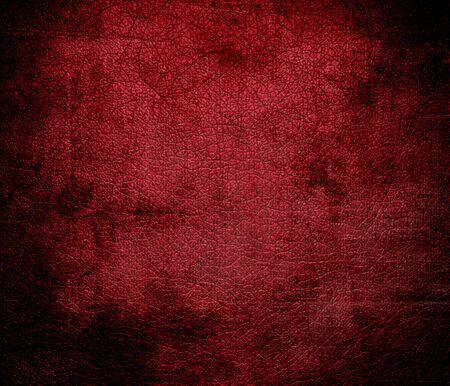 carmine: Grunge background of carmine leather texture