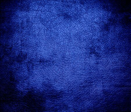 cerulean: Grunge background of cerulean blue leather texture Stock Photo
