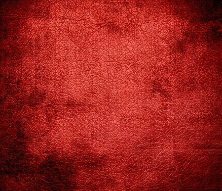 red leather texture: Grunge background of red leather texture