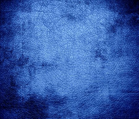 bolster: Grunge background of cornflower blue leather texture