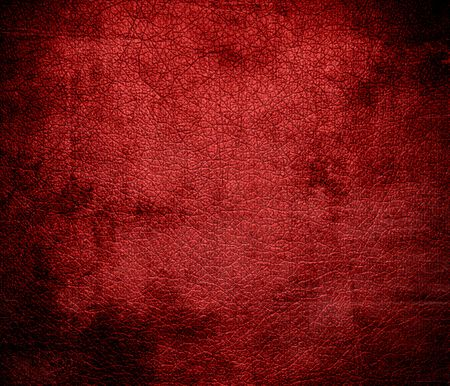 red leather texture: Grunge background of cornell red leather texture